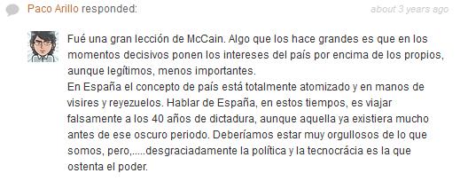 Comentario Paco Arillo