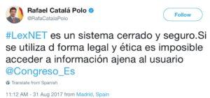 Tuit Ministro de Justicia Rafael Catalá